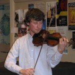 Artem Kolesov, the young Russian violinist at our December 2015 meeting