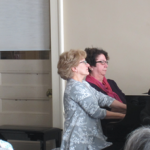 The Piano Duo of Louise Grinstead and Michelle Bortolussi playing for us at the January 2016 Meeting
