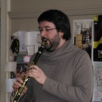 Dominic Desautels, Principal Clarinet SNS, at the March 2015 meeting